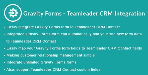 Gravity Forms - Teamleader CRM Integration - CodeCanyon Item for Sale