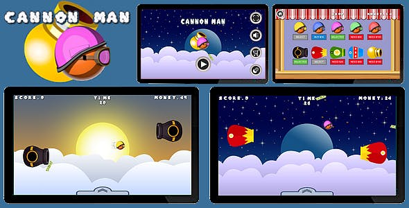 Cannon Man | HTML5 Game - Construct 2 CAPX