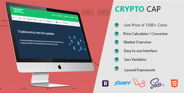 Crypto Cap -  Cryptocurrencies Realtime Prices, Charts, Market Caps and more - CodeCanyon Item for Sale