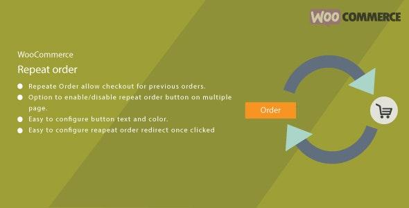 WordPress WooCommerce Repeat Order Plugin - CodeCanyon Item for Sale
