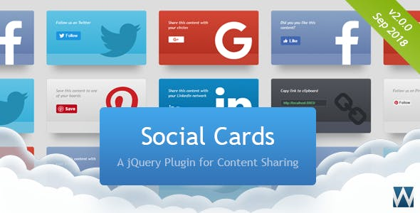 Social Cards jQuery Plugin