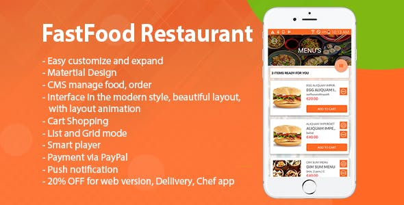 Android Food Ordering And Web
