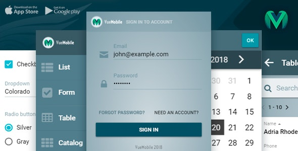 Vue Mobile | Vue js Cordova App by Bukza | CodeCanyon