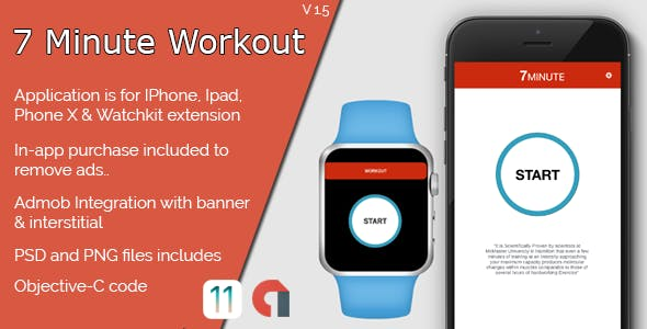 7 Minute Workout IOS Full Application + WatchKit
