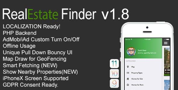 RealEstate Finder Full iOS Application v1.8