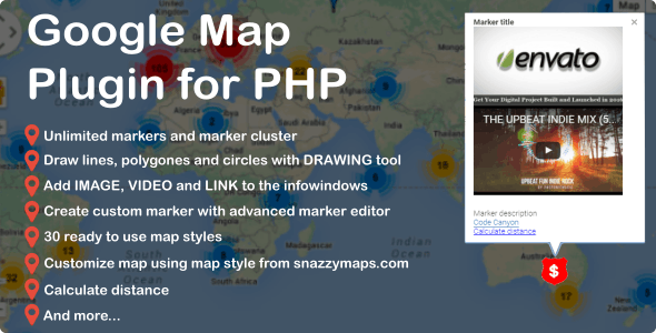 DML Google Map Script for PHP - CodeCanyon Item for Sale