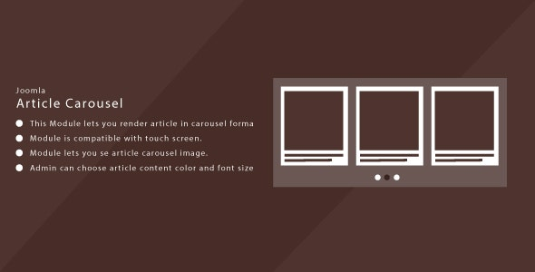 Article Carousel for Joomla - CodeCanyon Item for Sale