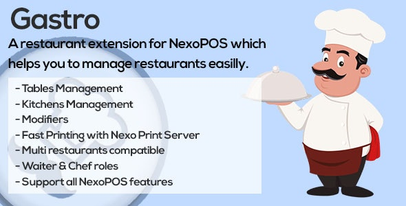 Gastro - Restaurant Extension for NexoPOS - CodeCanyon Item for Sale