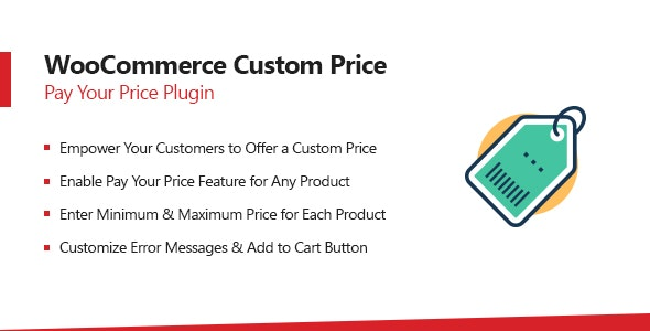WooCommerce Name Your Price – Custom Pay Your Price Plugin - CodeCanyon Item for Sale