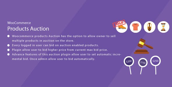 WordPress WooCommerce Auction Plugin