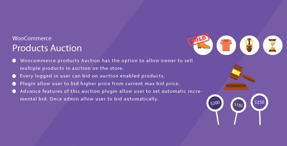 WordPress WooCommerce Auction Plugin - CodeCanyon Item for Sale