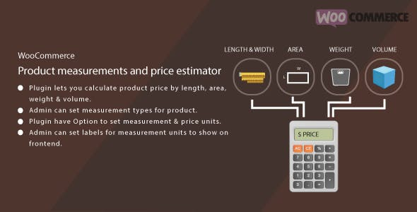 WordPress WooCommerce Measurement Price Estimator