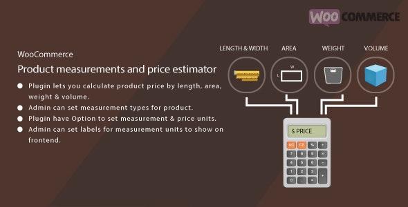 WordPress WooCommerce Measurement Price Estimator