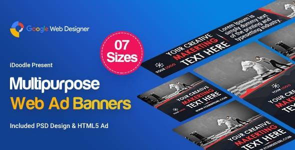 Multi Purpose Banners HTML5 D1 - Google Web Designer
