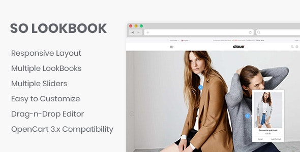 So LookBook - Responsive OpenCart 3 Module - CodeCanyon Item for Sale