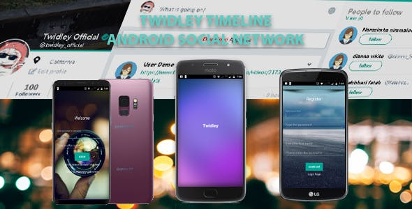 Twidley Timeline - Android Social Network