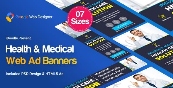 Medical Agency Banners HTML5 - Google Web Designer
