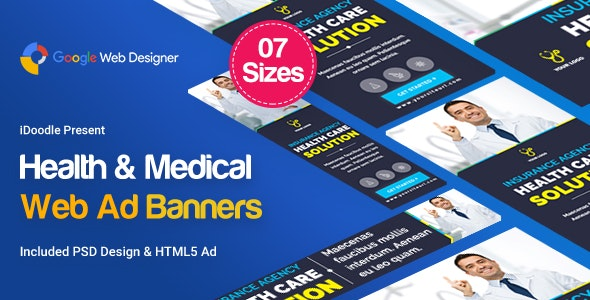 Medical Agency Banners Html5 Google Web Designer By Idoodle Codecanyon