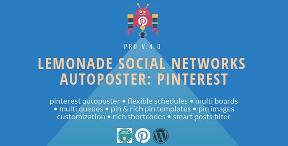 Lemonade Social Networks Autoposter: Pinterest PRO - CodeCanyon Item for Sale