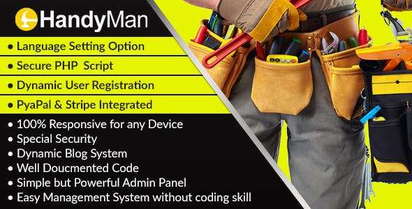 MyHandyman - Dynamic Handyman Management Syestem and Directory Script