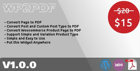 WP2PDF - Convert Page, Post and Product to PDF