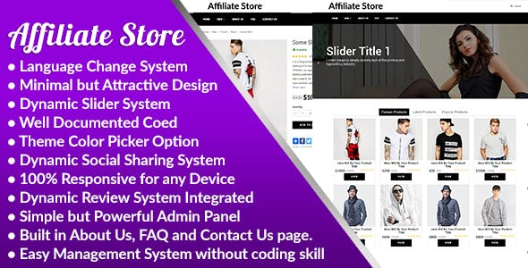 Affiliate Store - Responsive Affiliate Store Management System - CodeCanyon Item for Sale