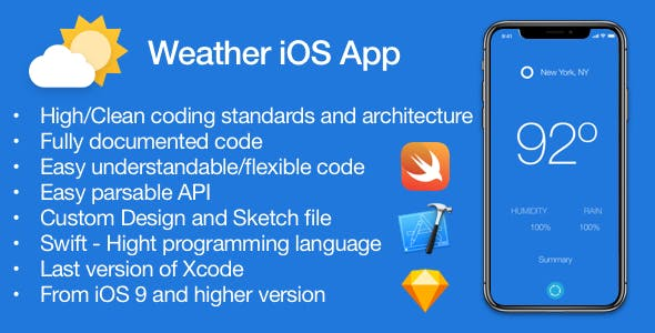 [WHITE Label] Weather - iOS Application