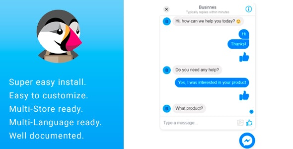Business Facebook Online Live Chat Support Messenger by