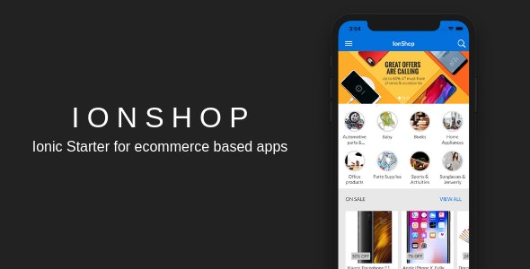 IonShop - Ionic 3 Starter for Ecommerce Based Apps - CodeCanyon Item for Sale