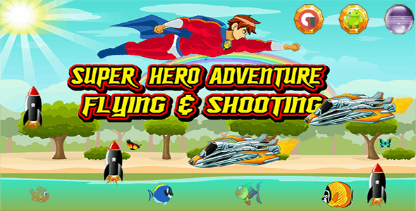 Super Hero Adventure - Admob Banner & Interstitial (Eclipse Project )