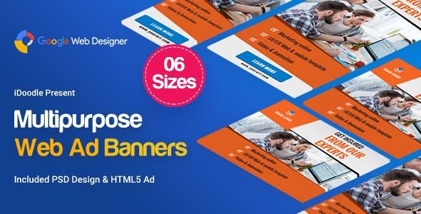 Multi Purpose Banners HTML5 D6 - GWD