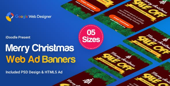 Christmas Banner HTML5 - Animated