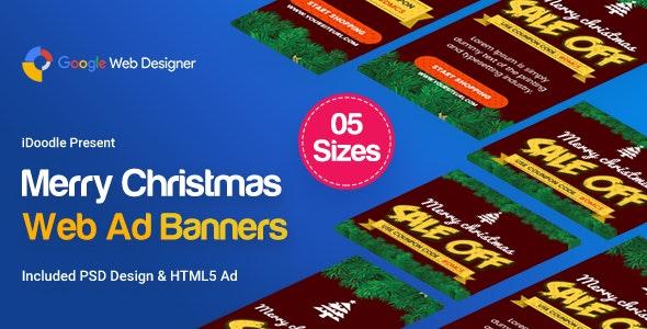 Christmas Banner HTML5 - Animated - CodeCanyon Item for Sale