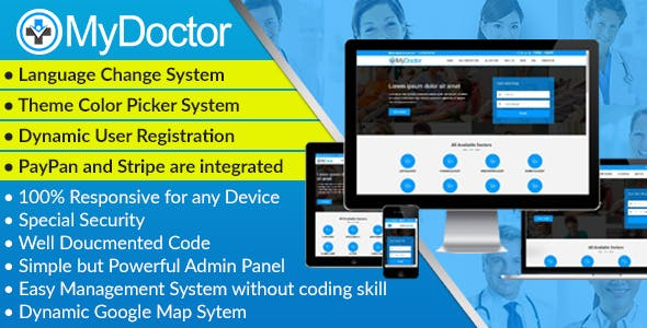 MyDoctor - Bootstrap Doctor Directory CMS Script