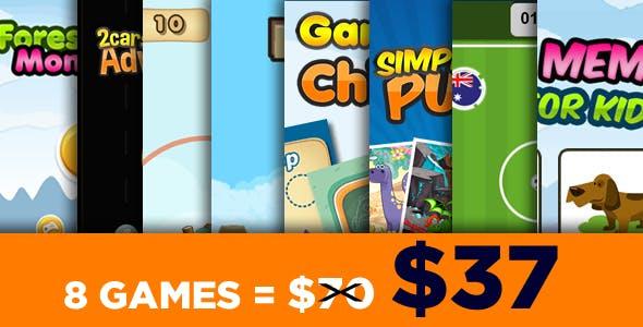 Mega Bundle 8 Games - HTML5 Games (CAPX)