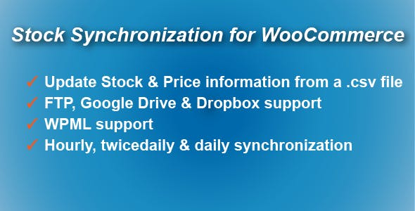 Stock Synchronization for WooCommerce