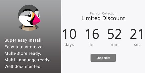 Promotion Discount Countdown Banner & Slider