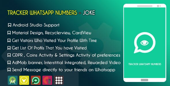 Tracker Whatsapp Number - JOKE - ADMOB & GDPR
