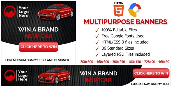 Multi Purpose Business Animated HTML5 Banner Ads (GWD) - CodeCanyon Item for Sale