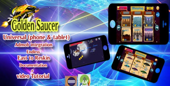 Golden Saucer STAR SHOOTING Adventure (Eclipse   - Admob) - CodeCanyon Item for Sale