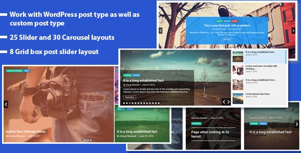 Responsive Recent Post Slider Pro plugin for WordPress