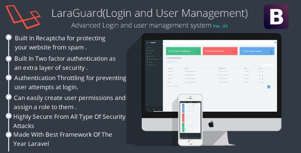 LaraGuard - PHP Login and User Management