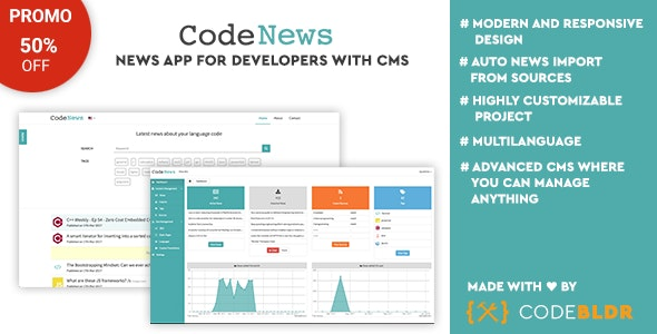 Code News - News Web App for Developers with CMS - CodeCanyon Item for Sale