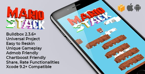 Mario Stack - Buildbox Template