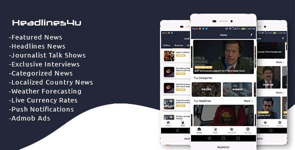 Headlines4u - News + TalkShows + Exclusive Interviews + Weather