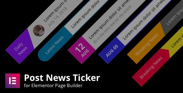 Posts News Tickers for Elementor Page Builder