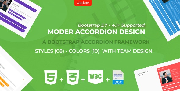 Bootstrap  Responsive Accordion Framework - CodeCanyon Item for Sale