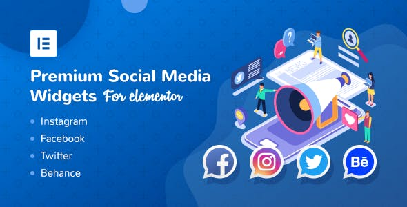 Premium Social Media Widgets for Elementor - CodeCanyon Item for Sale