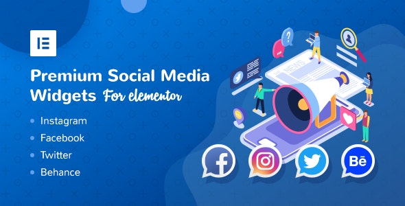 Premium Social Media Widgets for Elementor - CodeCanyon Item for Sale