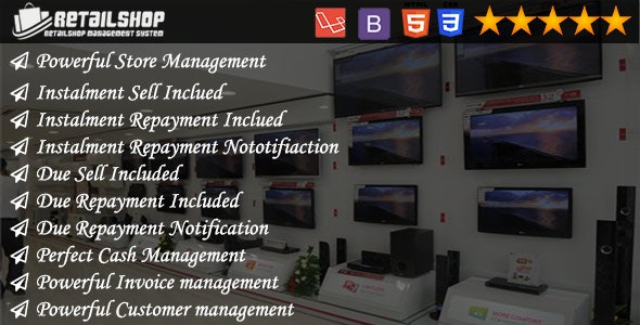 myShop - Installment and Due Sell Supported Powerful Shop Management System - CodeCanyon Item for Sale
